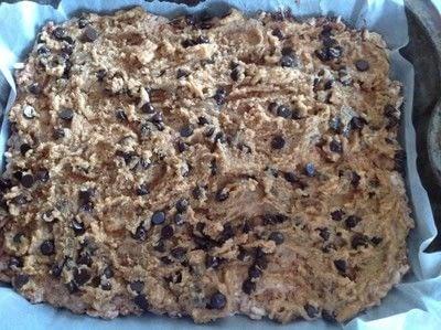 How to bake a bar / slice. Cookie Dough Krispie Treats - Step 9