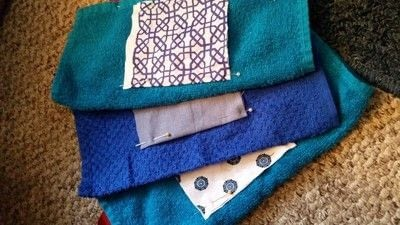 How to make a baby bib. Diy Wash Cloth Bibs - Step 2
