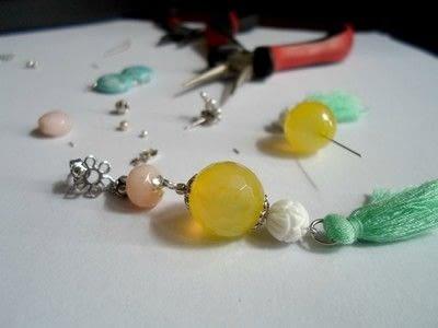 How to make a tassel earring. Dangling Tassel Earrings - Step 3