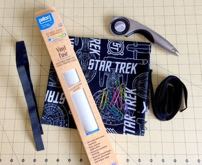 How to make a lunch bag. Reusuable Sandwich Wraps With Fusible Vinyl - Step 1