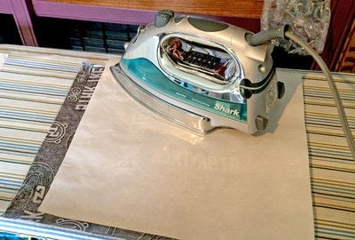 How to make a lunch bag. Reusuable Sandwich Wraps With Fusible Vinyl - Step 3