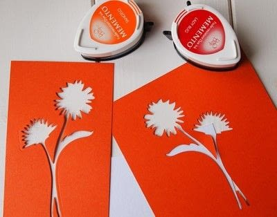 How to make a greetings card. Floral Stencil Card - Step 1