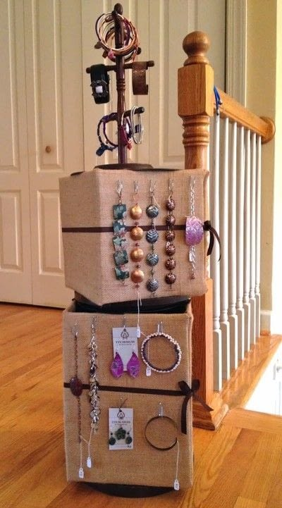 How to make a jewelry display. Jewelry Home Storage Or Craft Show Display - Step 12