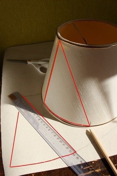 How to make a lamp / lampshade. Ikat Inspired Lamp Makeover - Step 5