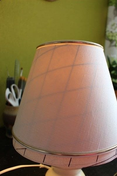 How to make a lamp / lampshade. Ikat Inspired Lamp Makeover - Step 8