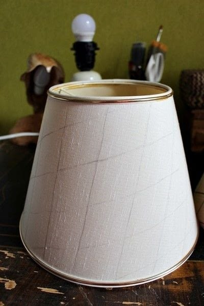 How to make a lamp / lampshade. Ikat Inspired Lamp Makeover - Step 9