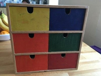 How to make a drawer. Craft Box Revamp - Step 1