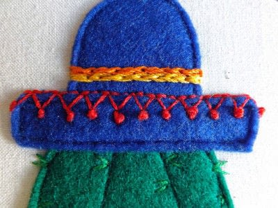 How to make wall decor. Cactus In A Hat - Step 3