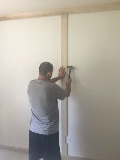 How to make wall decor. Diy Board And Batten Grid Wall - Step 4