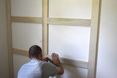How to make wall decor. Diy Board And Batten Grid Wall - Step 5