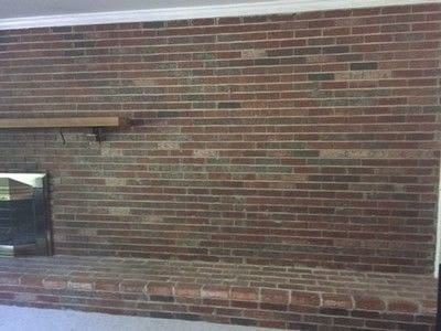 How to make a fireplace. How To Whitewash Your Brick Fireplace - Step 1