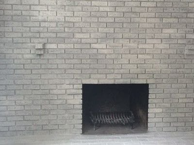 How to make a fireplace. How To Whitewash Your Brick Fireplace - Step 3