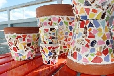 How to make a mosaic vase. Mosaic Flowerpot - Step 7