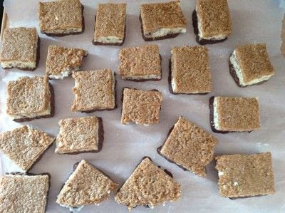 How to bake a bar / slice. Samoa Rice Krispy Treat - Step 11