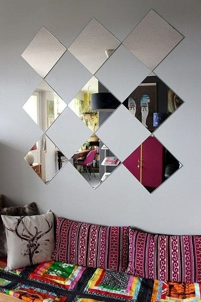 How to make a wall mirror. Contemporary Mirror Wall - Step 6