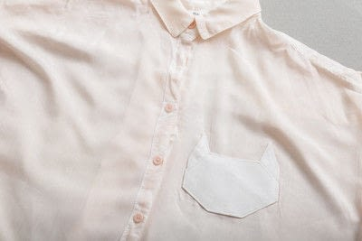 How to sew a pocket. Origami Cat Shirt Pocket - Step 10