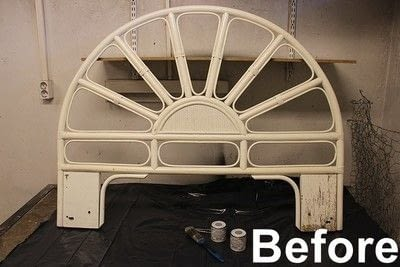 How to make a bed headboard. Eclectic Rattan Headboard Makeover - Step 1