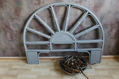How to make a bed headboard. Eclectic Rattan Headboard Makeover - Step 4