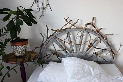 How to make a bed headboard. Eclectic Rattan Headboard Makeover - Step 8