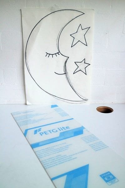 How to make a decorative light. Blue Moon Neon Sign - Step 1