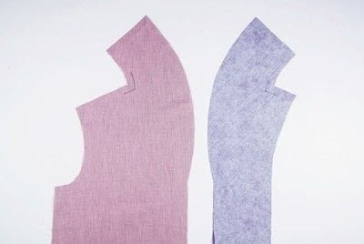 How to sew . Shawl Collar - Step 1