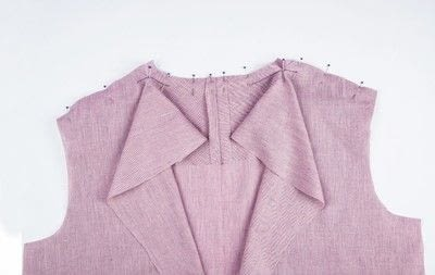 How to sew . Shawl Collar - Step 8