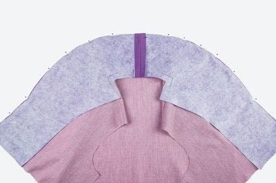 How to sew . Shawl Collar - Step 12