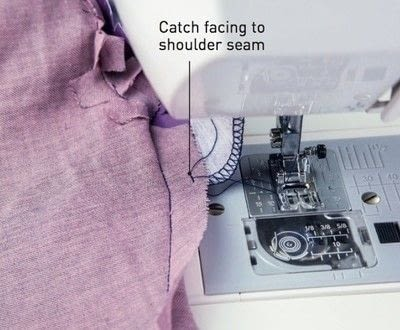How to sew . Shawl Collar - Step 24