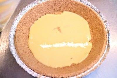 How to bake a custard tart. Peach & Raspberry Custard Tart - Step 5