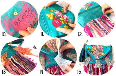 How to make a shoulder bag. Boho Festival Bags  - Step 3