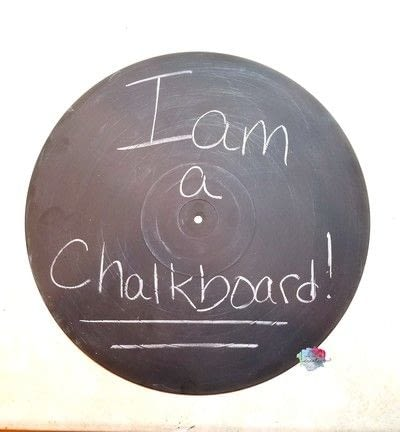 How to make an office accessory. Diy Record Chalkboard - Step 4