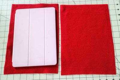 How to make a tablet sleeve. Postage Envelope iPad Sleeve - Step 1