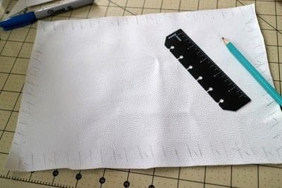 How to make a tablet sleeve. Postage Envelope iPad Sleeve - Step 11