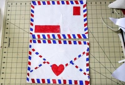 How to make a tablet sleeve. Postage Envelope iPad Sleeve - Step 15