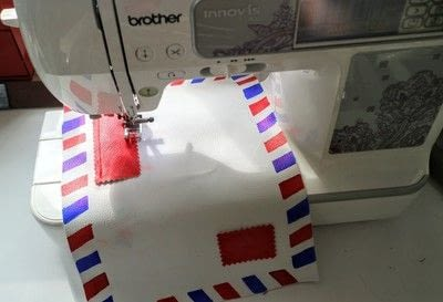 How to make a tablet sleeve. Postage Envelope iPad Sleeve - Step 16