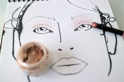 How to create a red eye makeup look. Moulin Rouge Make Up - Step 1