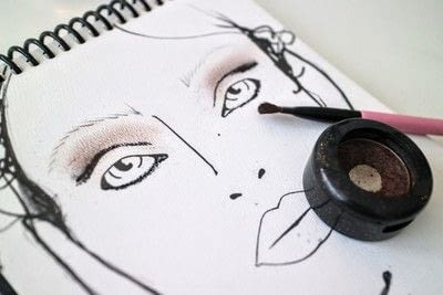 How to create a red eye makeup look. Moulin Rouge Make Up - Step 4