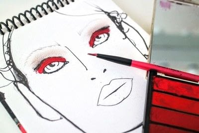 How to create a red eye makeup look. Moulin Rouge Make Up - Step 5