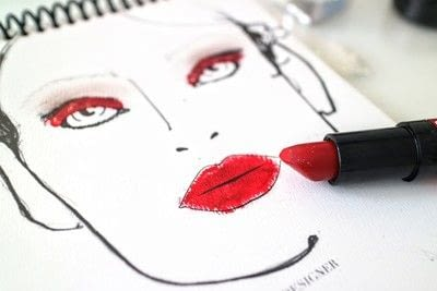 How to create a red eye makeup look. Moulin Rouge Make Up - Step 6