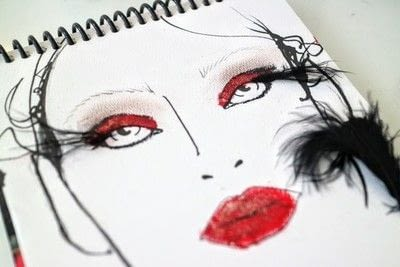 How to create a red eye makeup look. Moulin Rouge Make Up - Step 8