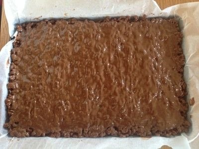 How to bake a bar / slice. Mars Bar Cake - Step 5