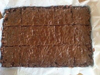 How to bake a bar / slice. Mars Bar Cake - Step 6
