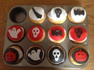 How to bake a sponge cake. Spooky Halloween Cupcakes  - Step 12