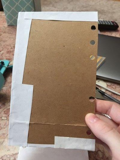 How to make a sketchbook. Planner To Sketchbook - Step 5