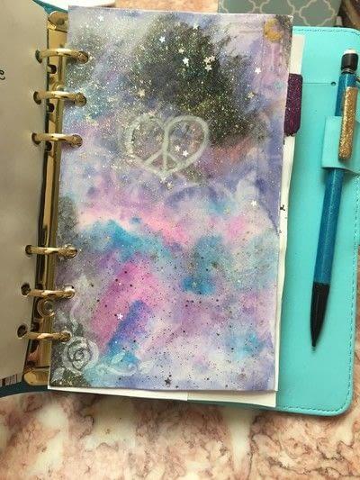 How to make a sketchbook. Planner To Sketchbook - Step 6