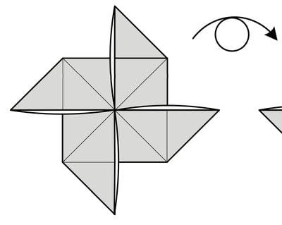 How to fold origami. Origami Helicopter - Step 11