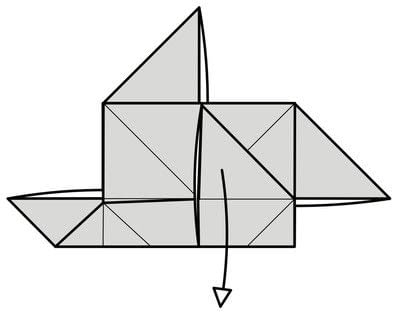 How to fold origami. Origami Helicopter - Step 13