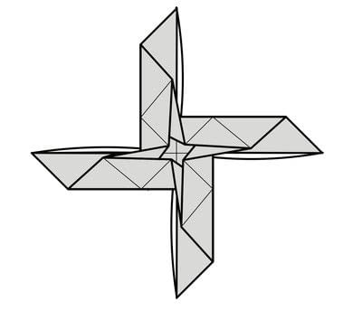 How to fold origami. Origami Helicopter - Step 18