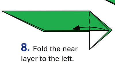 How to fold origami. Origami Helicopter - Step 26