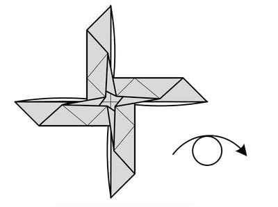 How to fold origami. Origami Helicopter - Step 29